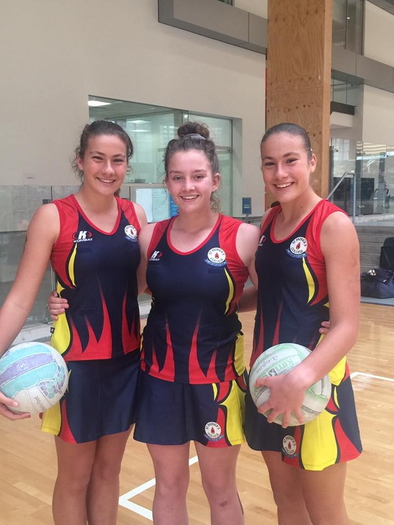 Amy and Natalie S, Emily A at NSWCCC Netball Trials