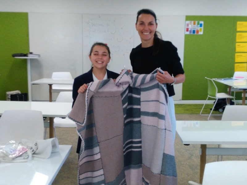 Mother and Daughter Team Mia C and Ms Kay Cornett produce a whole blanket together