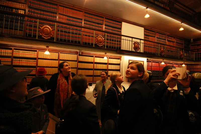 In the Library at Parliament House where the Hansard are kept