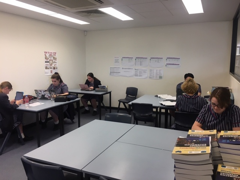 Senior Students studying in the Silent Study Room
